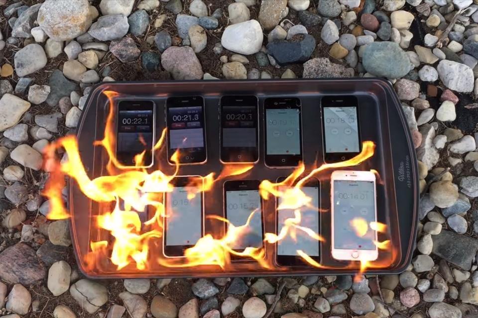 """Imagem de """"Tá pegando fogo, bicho!"""" Quais modelos de iPhone resistem mais a chamas? no tecmundo"""