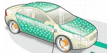 Imagem de Carro ecológico da Volvo com baterias integradas na lataria no site TecMundo