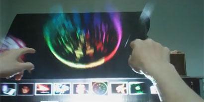 Imagem de DisplAir: fumaça touchscreen ou holografia tátil? no site TecMundo
