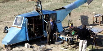 Imagem de Iraquiano cria helicóptero caseiro para proteger as fronteiras de seu país no site TecMundo