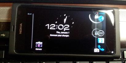 Imagem de Modificação mostra Android Ice Cream Sandwich rodando em um N9 no site TecMundo