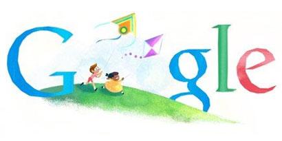 Imagem de Doodle do Google comemora Dia das Crianças no site TecMundo