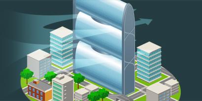 Imagem de Pearl River Tower: a torre sustentável gigante da China [ilustração] no site TecMundo