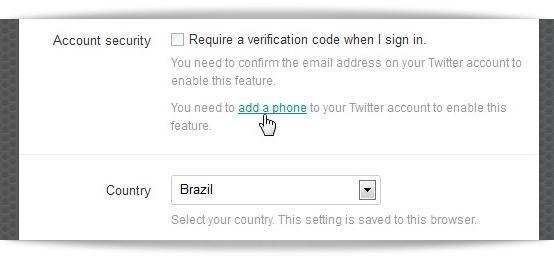 Twitter: como habilitar a verificação de login e senha em