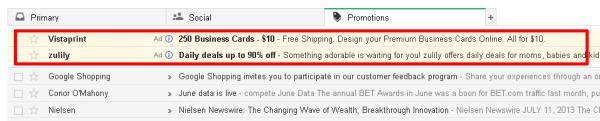 anuncios no gmail