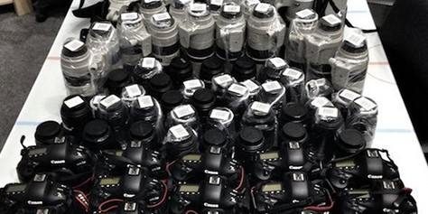 Imagem de US$ 425 mil é quanto valem estas câmeras e lentes juntas no site TecMundo