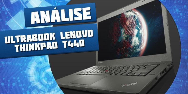 Imagem de Análise: ultrabook Lenovo ThinkPad T440 no site TecMundo