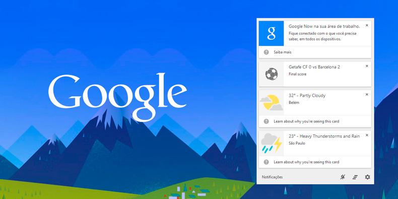 Imagem de Google Chrome: como ativar e usar o recurso Google Now no seu PC no site TecMundo