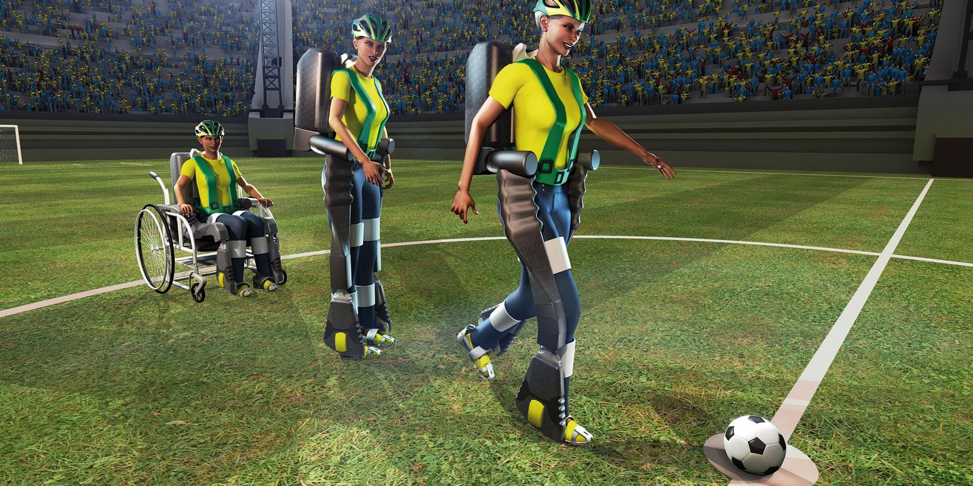 Imagem de Confira o exoesqueleto que dará o pontapé inicial da Copa funcionando no site TecMundo