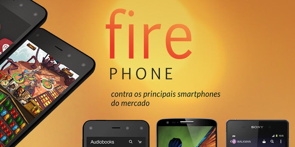 Imagem de Comparação: Amazon Fire Phone contra os principais smartphones do mercado no site TecMundo