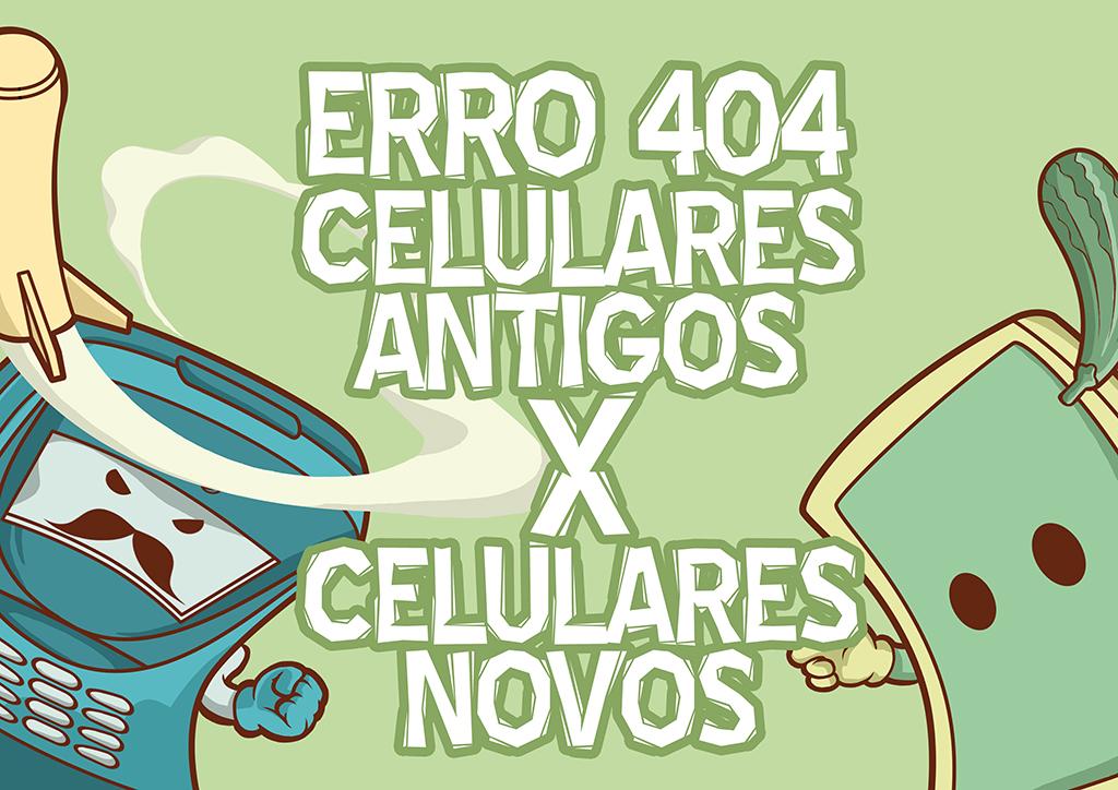 Imagem de Erro 404: celulares antigos vs. novos, que disputa acirrada! [ilustração] no site TecMundo