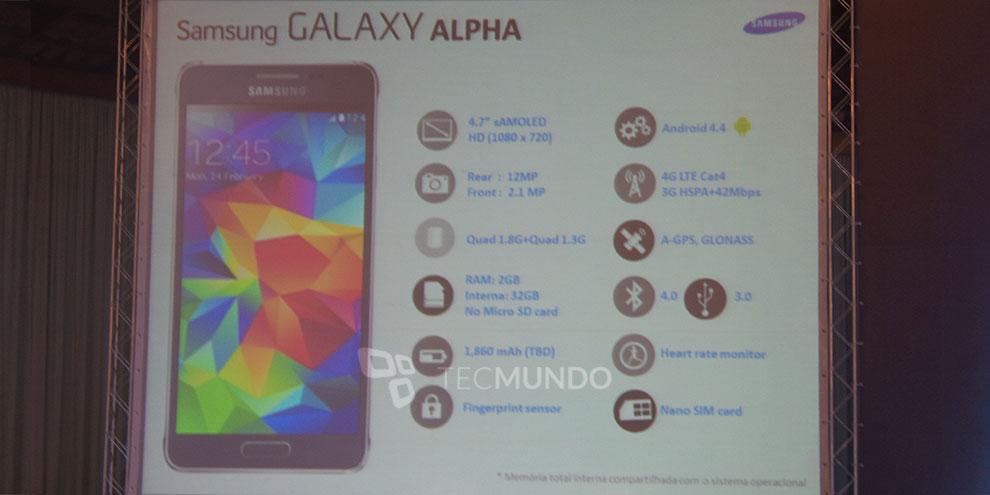 Imagem de Exclusivo: vazam especificações oficiais, preço e data do Galaxy Alpha no site TecMundo