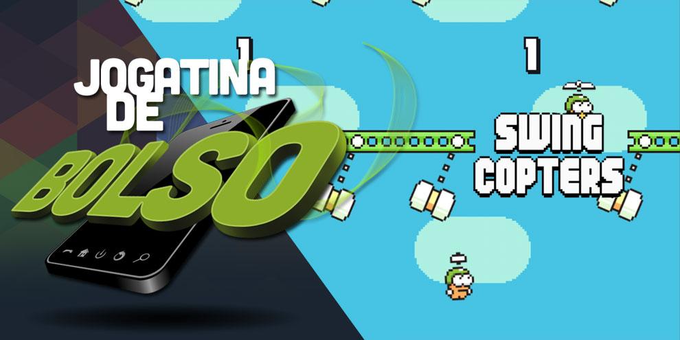 Imagem de Hoje tem gameplay ao vivo de Swing Copters no canal do Baixaki Android no site TecMundo