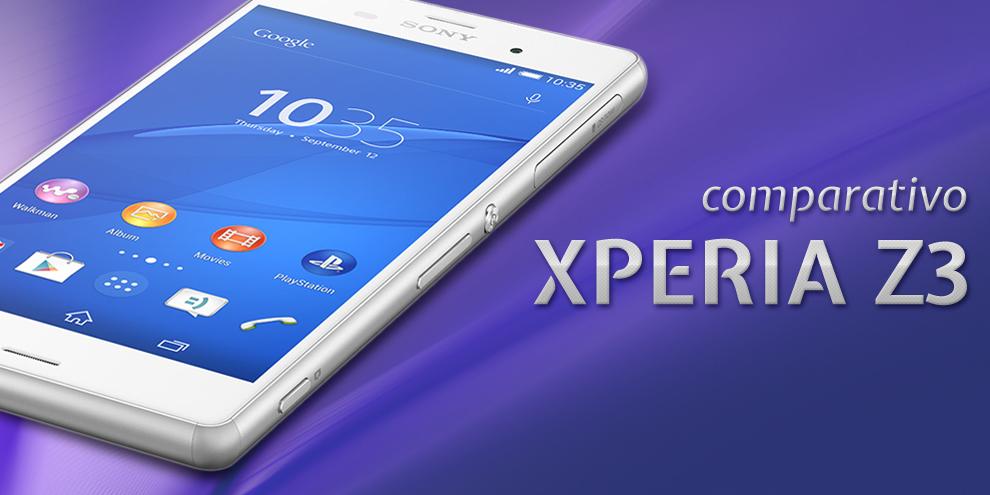 Imagem de Comparação: Sony Xperia Z3 contra os principais smartphones do mercado no site TecMundo