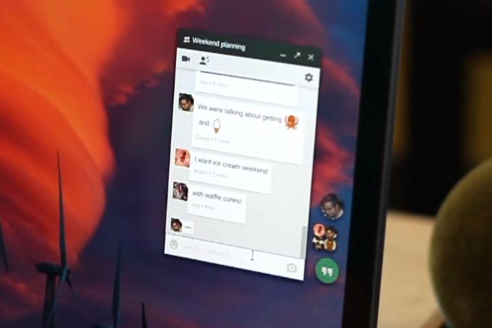 Imagem de Hangouts passa a exibir atalhos flutuantes para conversas no desktop no site TecMundo
