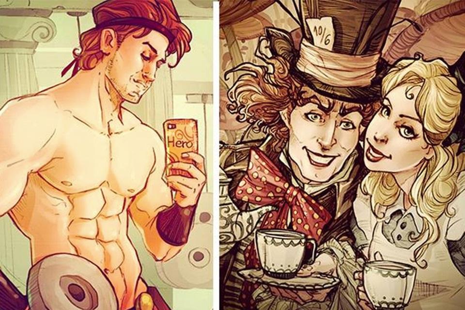 Imagem de E se os personagens da Disney possuíssem Instagram? no site TecMundo