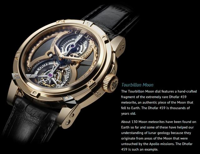 ff58268f45b Sabe o que faz o relógio acima algo tão especial  Ele conta com um  fragmento do raríssimo meteorito lunar Dhofar 459