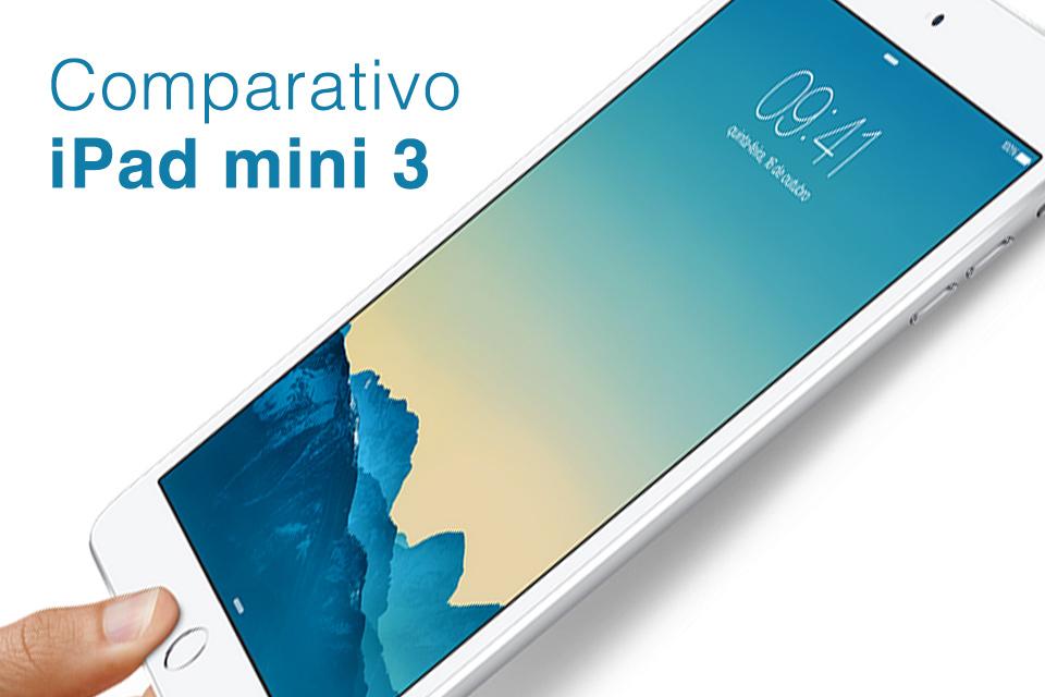 Imagem de Comparação: iPad Mini 3 contra os principais tablets do mercado no site TecMundo