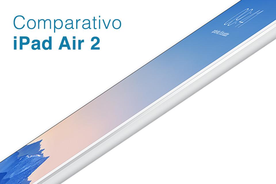 Imagem de Comparação: iPad Air 2 contra os principais tablets do mercado no site TecMundo