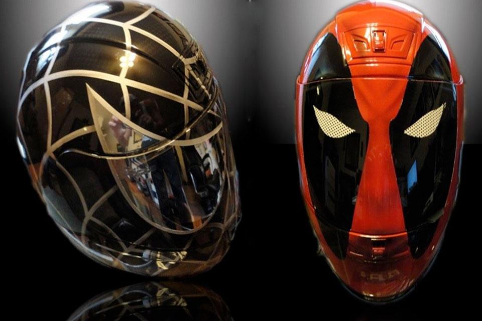 Imagem de Vire o motociclista mais estiloso das ruas com capacetes de heróis e vilões no site TecMundo