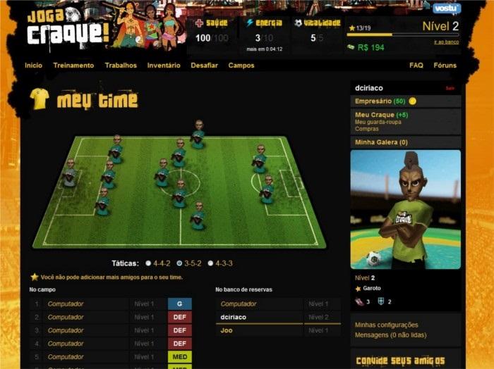 No jogo — que chegou a ser considerado um MMORPG de futebol —, era  necessário criar um atleta e ajudá-lo a passar por diversas etapas na  construção da ... 6984b71565