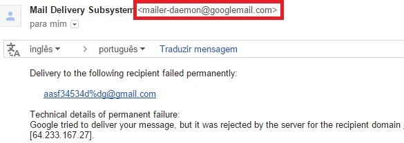 how to stop mailer daemon emails