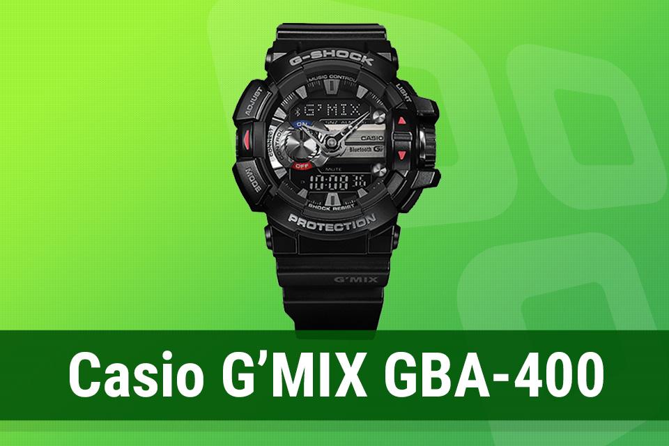 Imagem de Análise: relógio inteligente Casio G'MIX GBA-400 no tecmundo