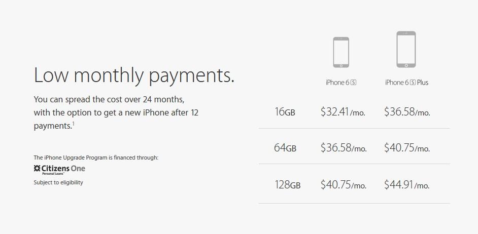 07e1a263038 Quem pretende partir para o iPhone 6s, por exemplo, vai pagar prestações  suaves de US$ 32,41 ...