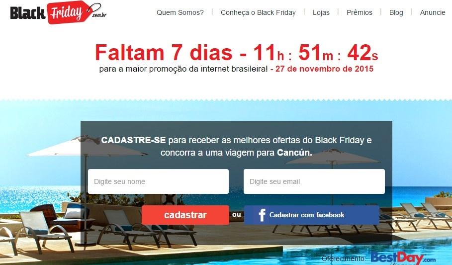 ed5e068418 Cadastre-se no site oficial da Black Friday e receba apenas  ofertas ...