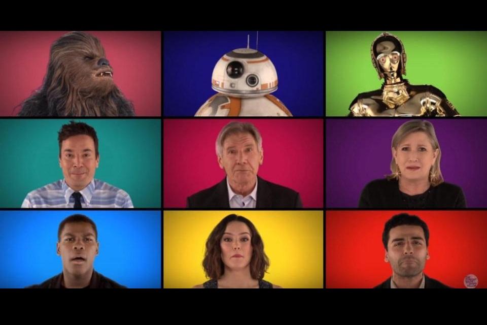Imagem de Jimmy Fallon põe elenco de Star Wars para cantar clássicos da saga à capela no tecmundo