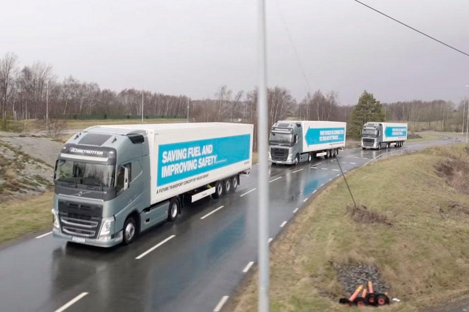 Imagem de Caminhões autônomos passaram uma semana viajando sozinhos pela Europa no tecmundo