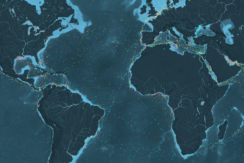 Imagem de Mapa interativo mostra fluxo marítimo do comércio global no tecmundo