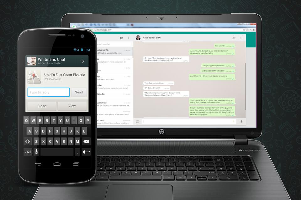 Imagem de WhatsApp ganha notificação para quando a versão web estiver aberta no tecmundo