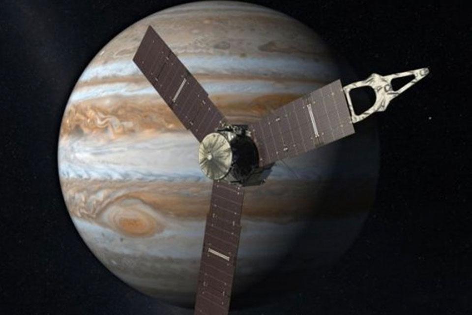 Imagem de NASA transmitiu ao vivo a chegada da sonda Juno à órbita de Júpiter no tecmundo