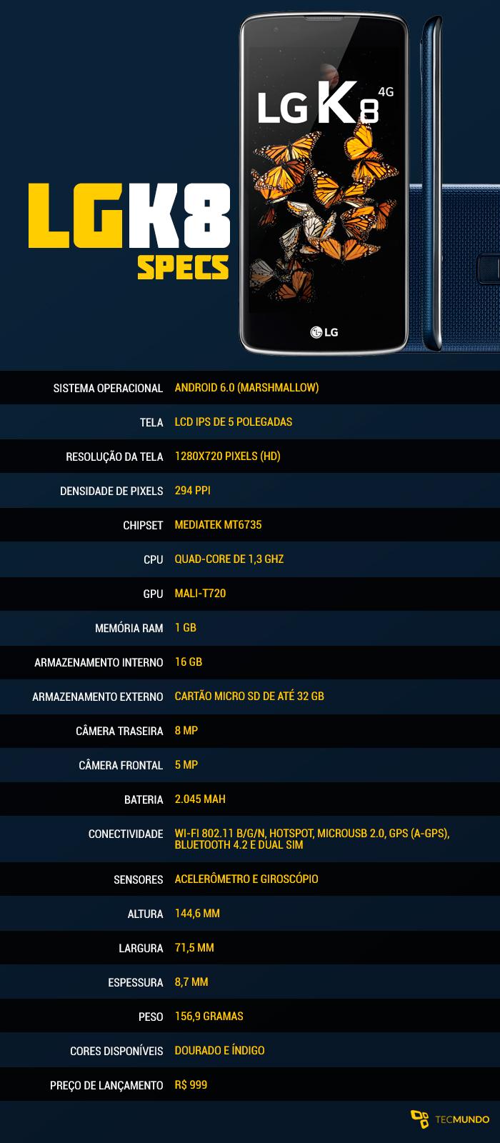 Review Smartphone Lg K8 4g Vdeo Tecmundo 8gb K350 Especificaes Tcnicas Do