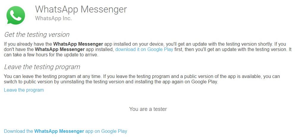WhatsApp Beta - Imagem 1 do software