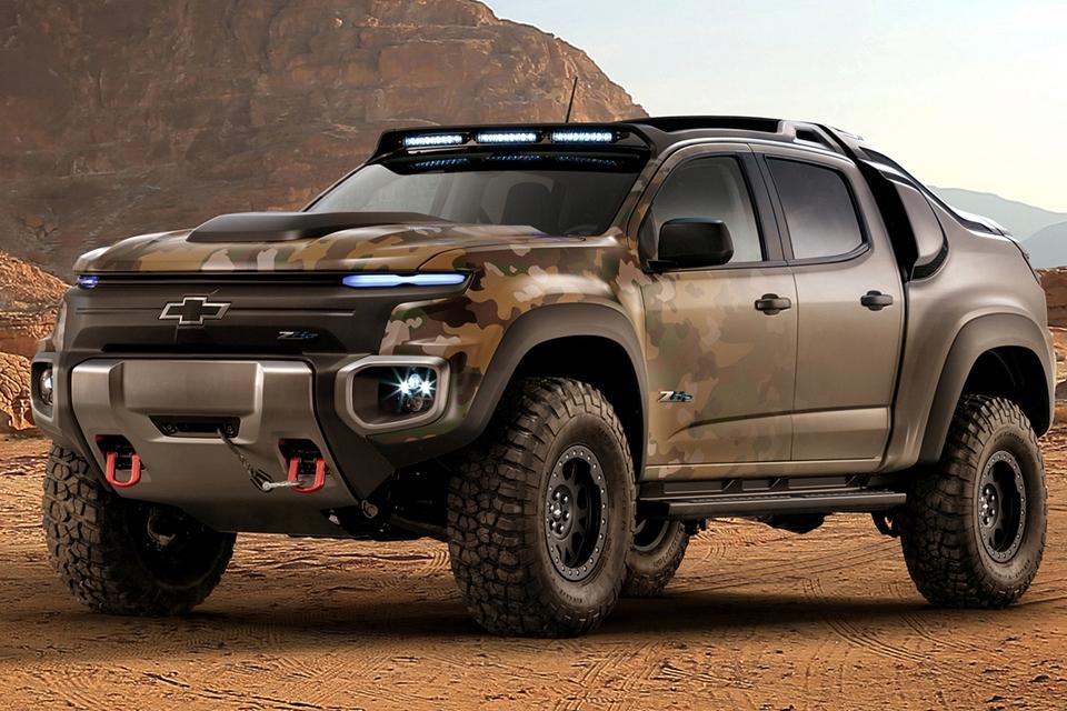 Imagem de Colorado ZH2 da Chevrolet é a picape militar futurista que já existe hoje no tecmundo