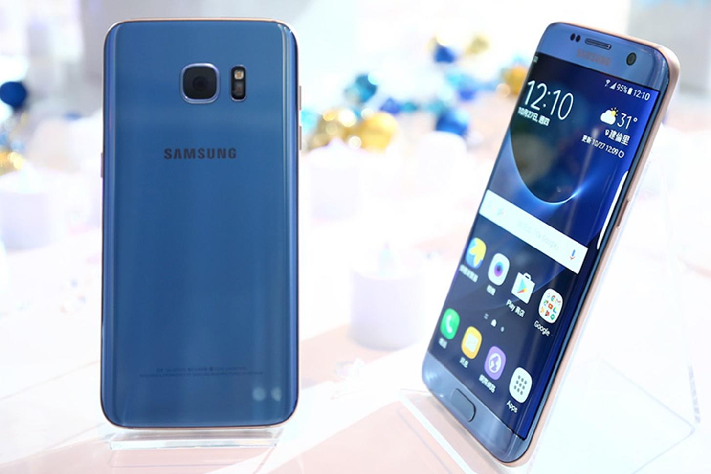 """Imagem de Samsung lança oficialmente o Galaxy S7 Edge na cor """"Blue Coral"""" no tecmundo"""