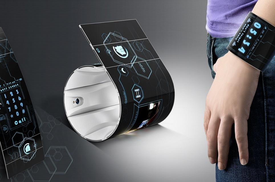 Imagem de Patente da Samsung mostra tela que pode ser dobrada por conta própria no tecmundo