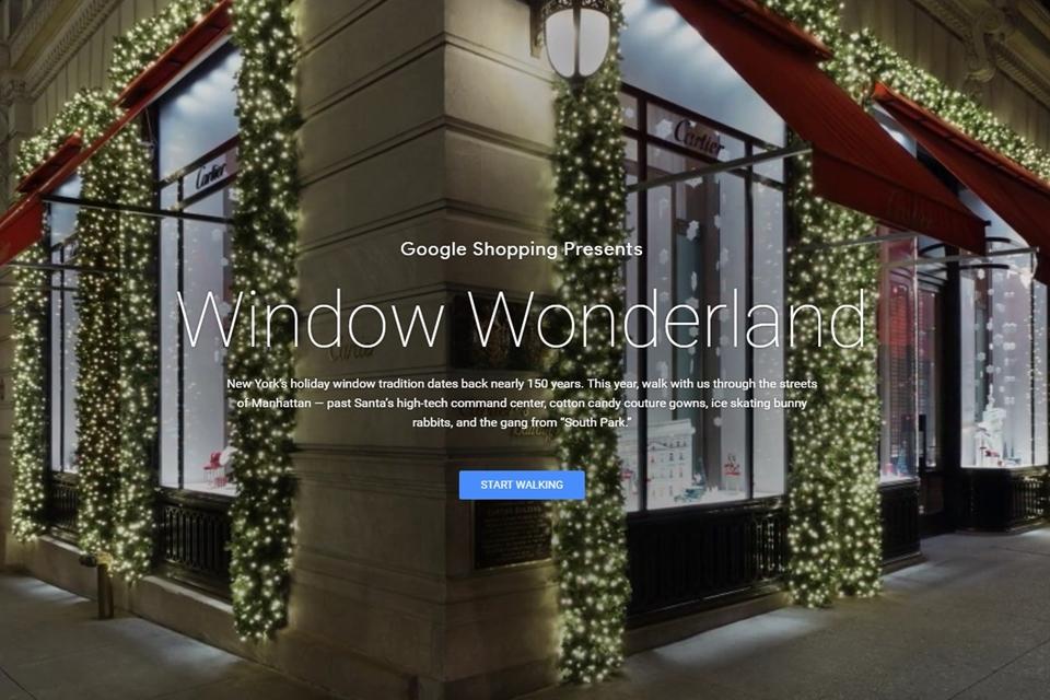 Imagem de Google faz passeio virtual pelas vitrines natalinas das lojas de Nova York no tecmundo