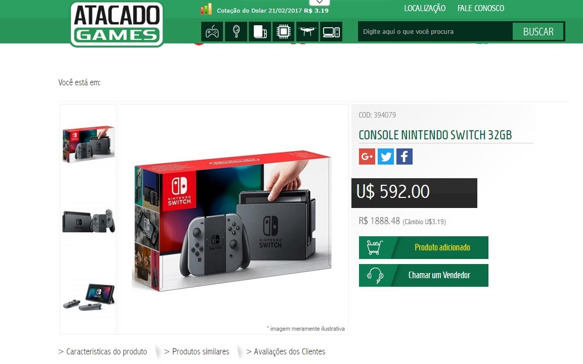 da50390ef Nintendo Switch pode ser encontrado em pré-venda no Brasil por até R ...