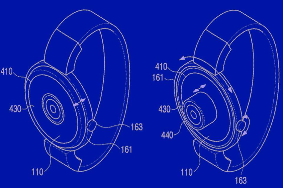 """Imagem de Samsung tem patente de smartwatch com câmera e tablet com """"tela rolante"""" no tecmundo"""