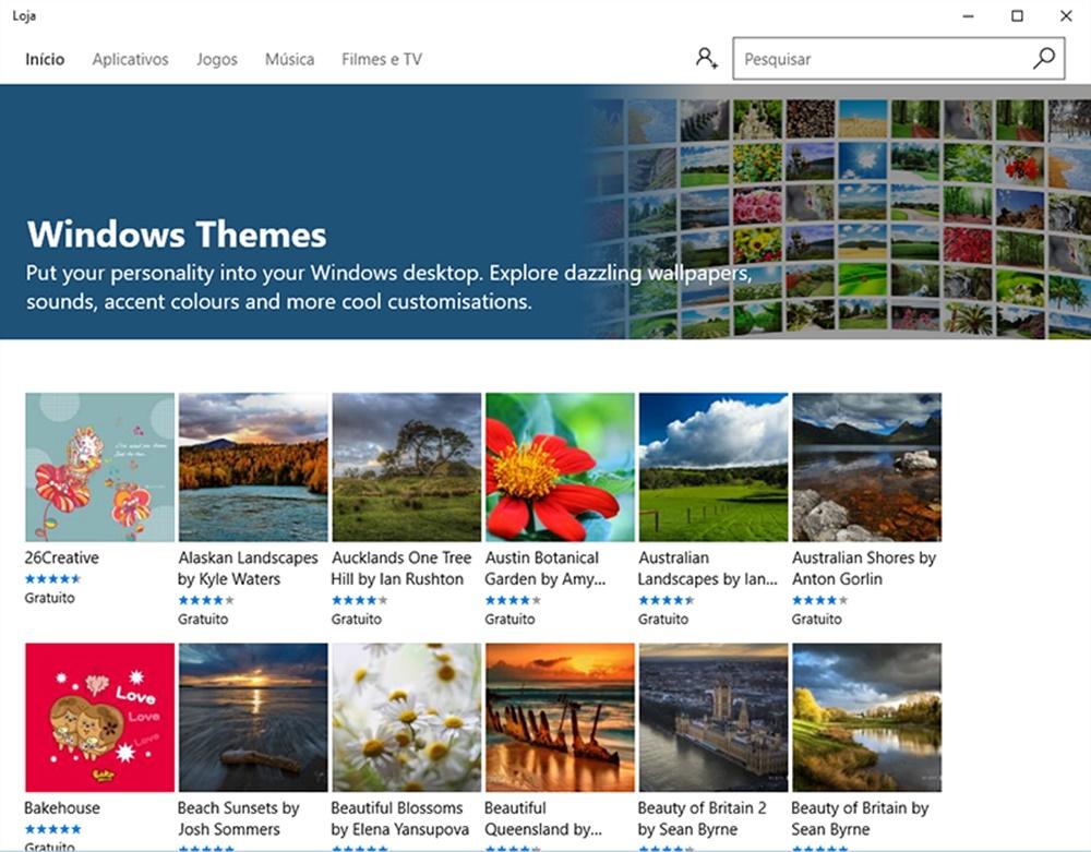 """Imagem de Personalização: como utilizar temas """"secretos"""" do Windows 10 em seu PC no tecmundo"""