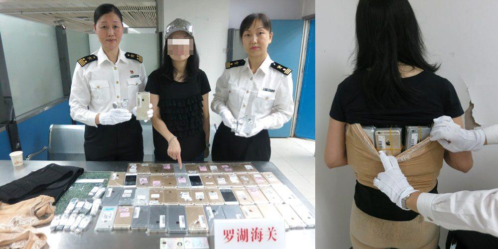 Mulher é presa com 102 iPhones amarrados no corpo na China