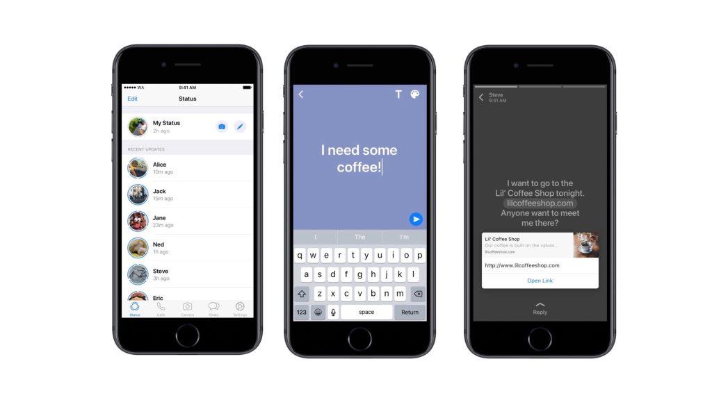 Como publicar status em texto no WhatsApp; post some em 24 horas