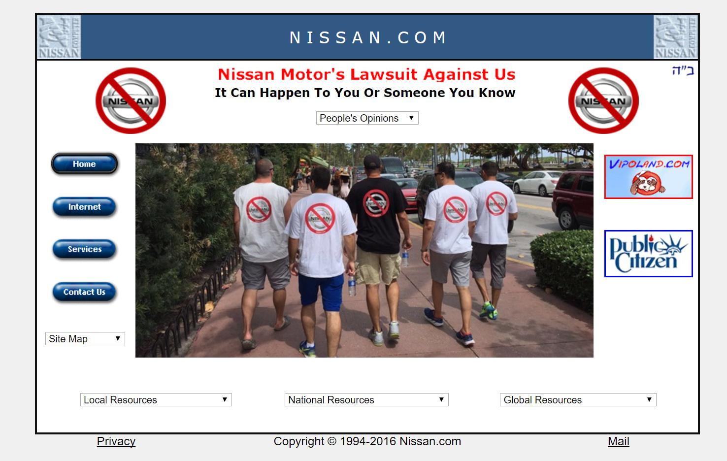 captura de tela de site