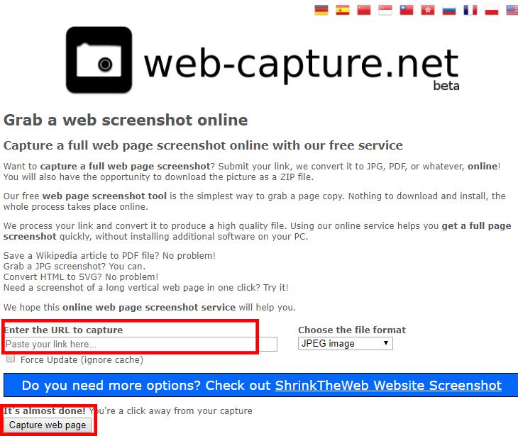 Captura de tela de computador