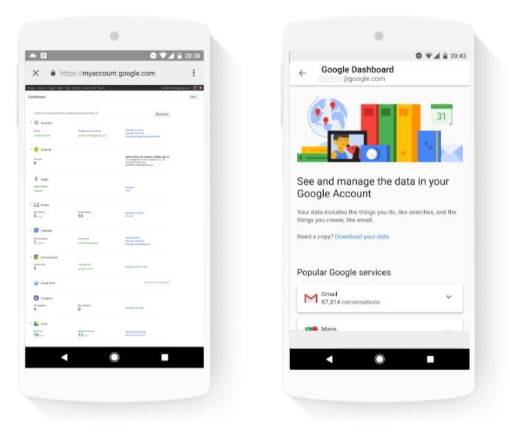 google dashboard privacidade