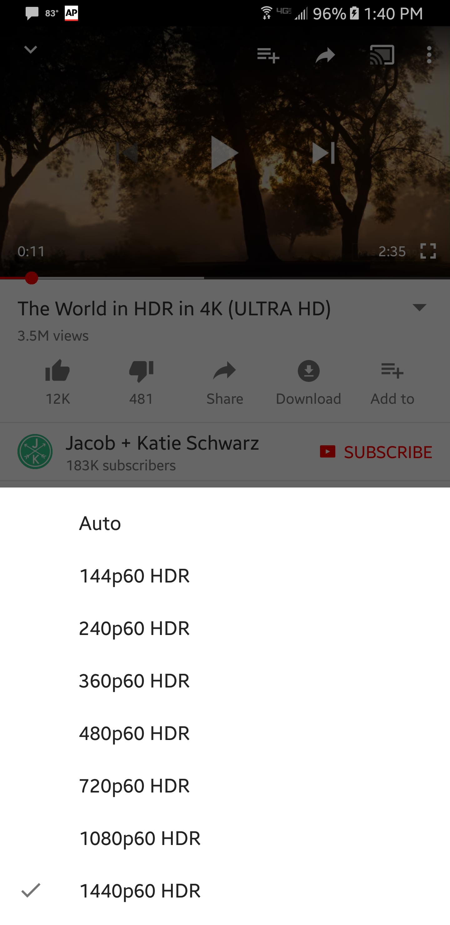Uma captura de tela YouTube