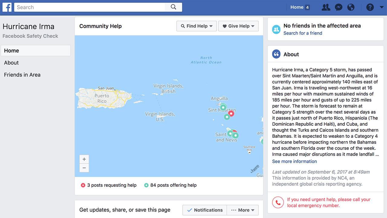 facebook check in segurança